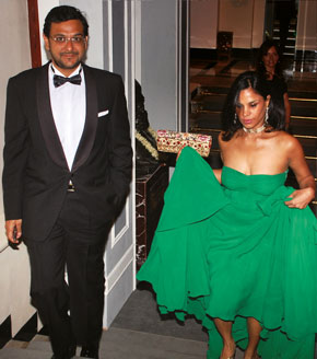 Gaurav and wife Pratima at her 40th birthday bash for which the doting husband pulled out all the fabulous stops