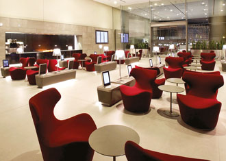 The swanky HIA Al Mourjan Business Lounge