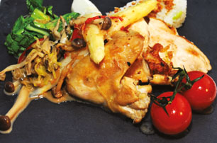 Chef Nilesh's Pan-seared Chicken with Soy Cream Sauce