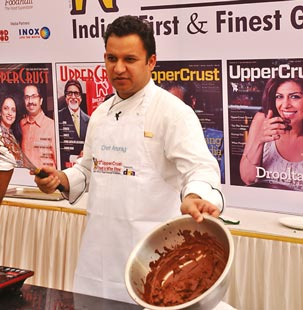 Chef Anurag Barthwal of Trident BKC whips it up at his demo on Divine Desserts