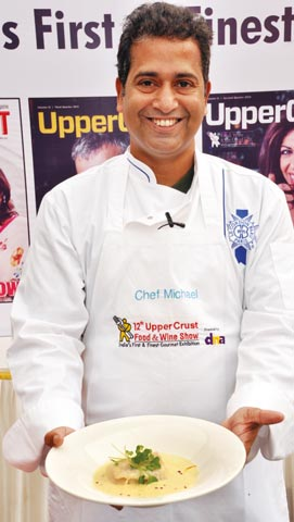 Chef Michael Swamy was all smiles through his demo on French Cuisine