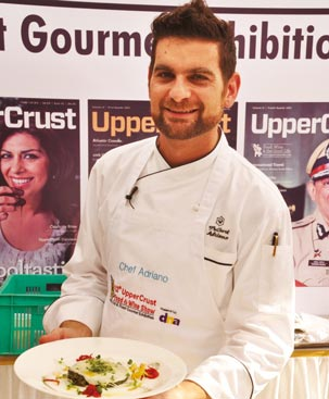 Chef Adriano Baldassarre of The Oberoi, Mumbai wowed visitors with his demo on Italian Cuisine