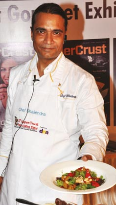 Chef Shailendra Kekade of Food Food presents a dish from his demo on Global Fusion