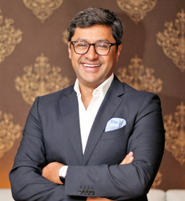 The suave businessman  Rohit Aggarwal of Lite Bite Foods