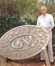 The late and revered Kanwal Grover of Grover Vineyards