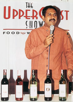 A young Abhay Kewadkar took a session on wine appreciation at the first  UpperCrust Show back in 2003