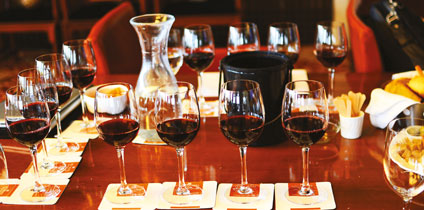 Wine tastings are a regular feature of 5-star hotels today